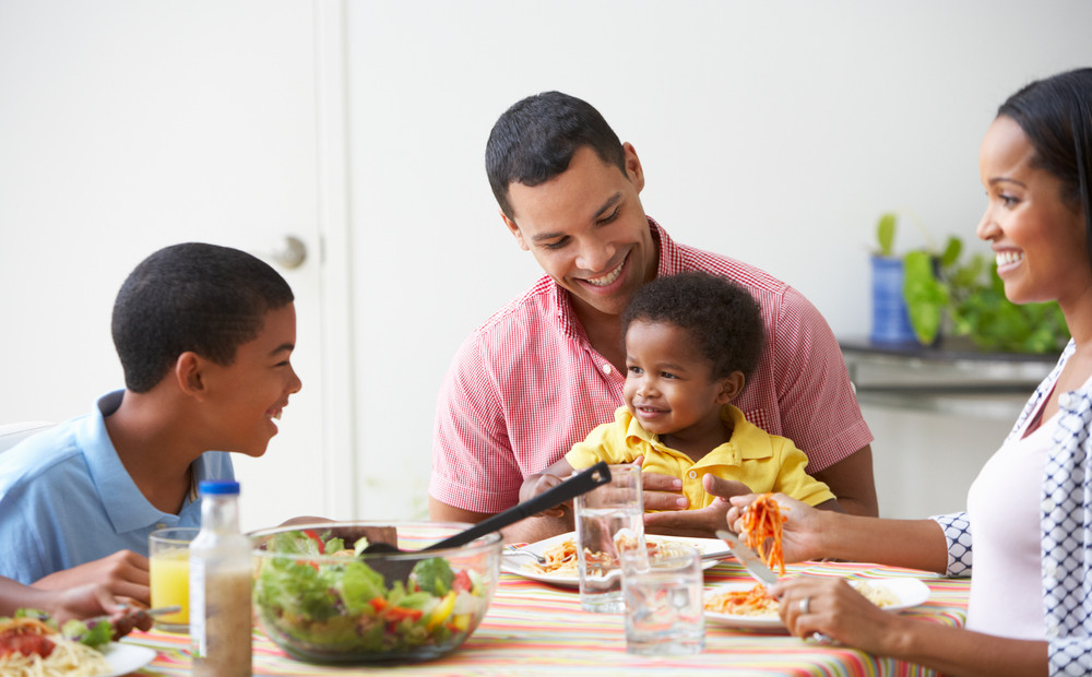 Image result for family eating with baby