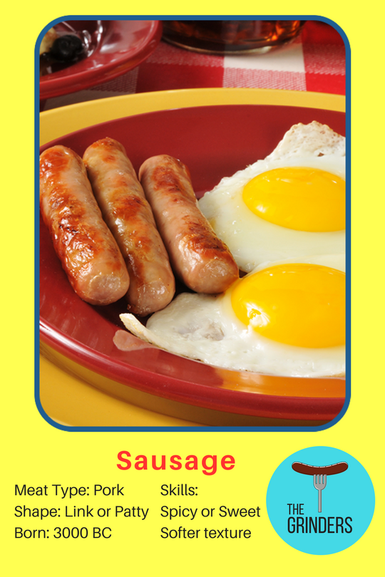sausage-baseball-card