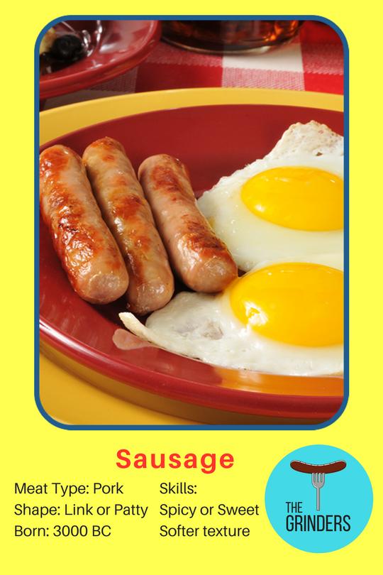 sausage-baseball-card